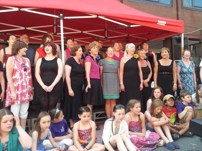 The Chester Mystery Play Chorus at the Northgate Quarter Choir Festival