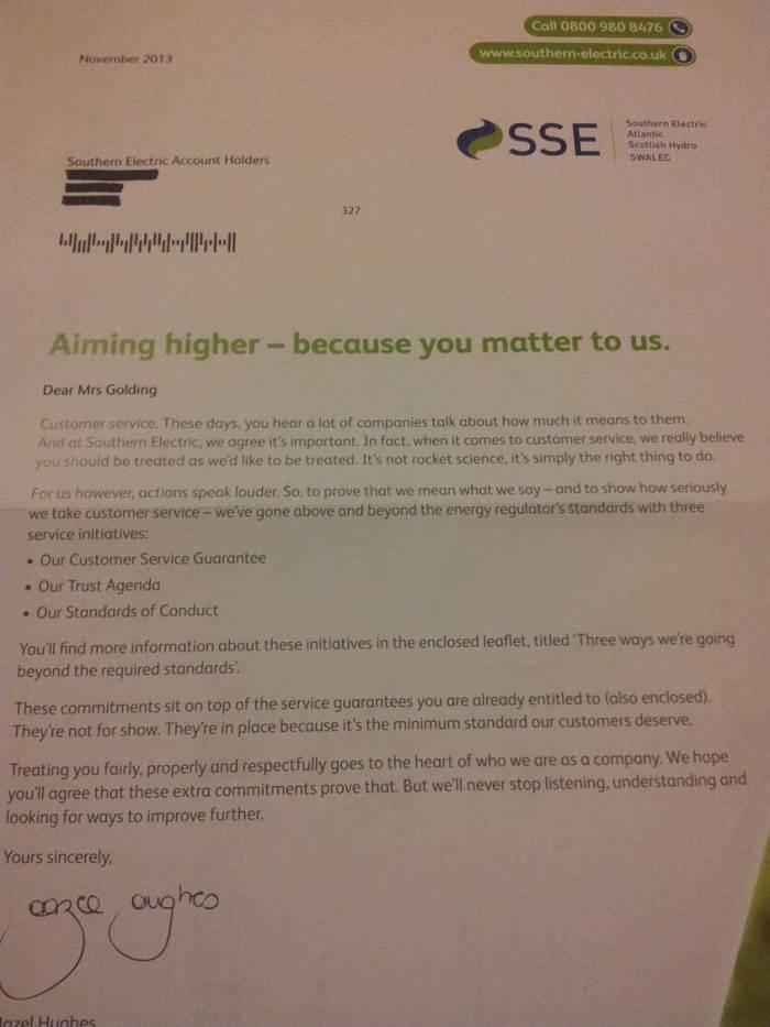 0 SSE Letter
