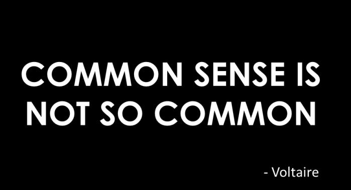 0 common sense