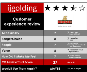 Fullers Doric Arch – Customer Experience Review