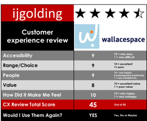 Wallacespace – Customer Experience Review