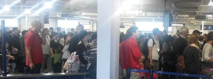 The airport queue - a sight destined to help you lose your sense of humour