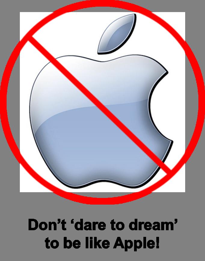 Not like Apple
