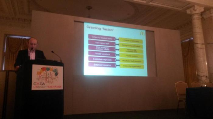 Jack Upton addressing the CXPA UK Members Insight Exchange