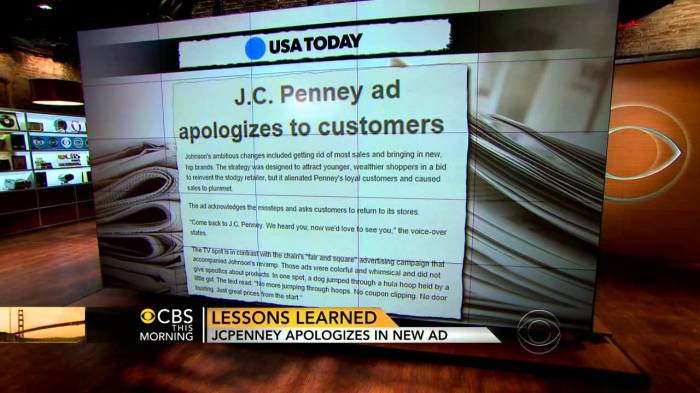 JC Penney apology